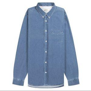 ACNE STUDIOS Isherwood Washed Denim Button Shirt
